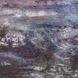 """4. """"Night Sea"""" - acrylic on board, 82.5x57cm, framed [SOLD]"""