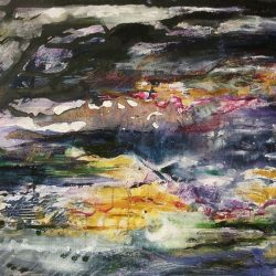 "9. ""Together Drifting"" - acrylic on canvas 96.5x75cm, framed"