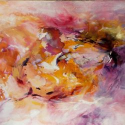 "19. ""Into The Sun"" - acrylic and ink on canvas, 84x58.5cm, unframed [SOLD]"