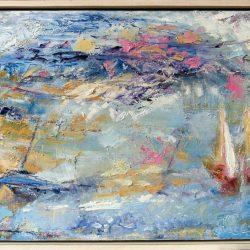 """42. """"Summer Seascape"""" Acrylic on canvas"""