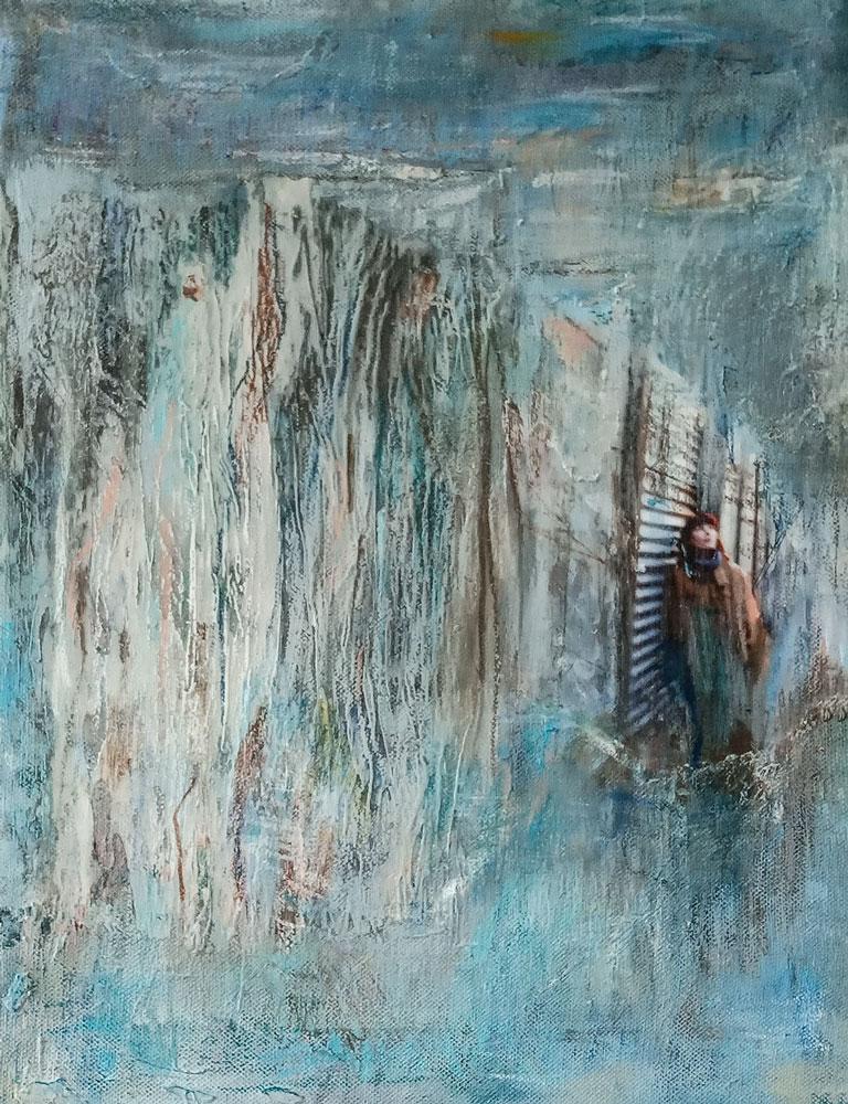 "34. ""Anja Dreaming"" - Mixed media, 20x40cm NFS"