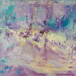 "41. ""Purple Tree Dance"" Oil on canvas 50x40cm"