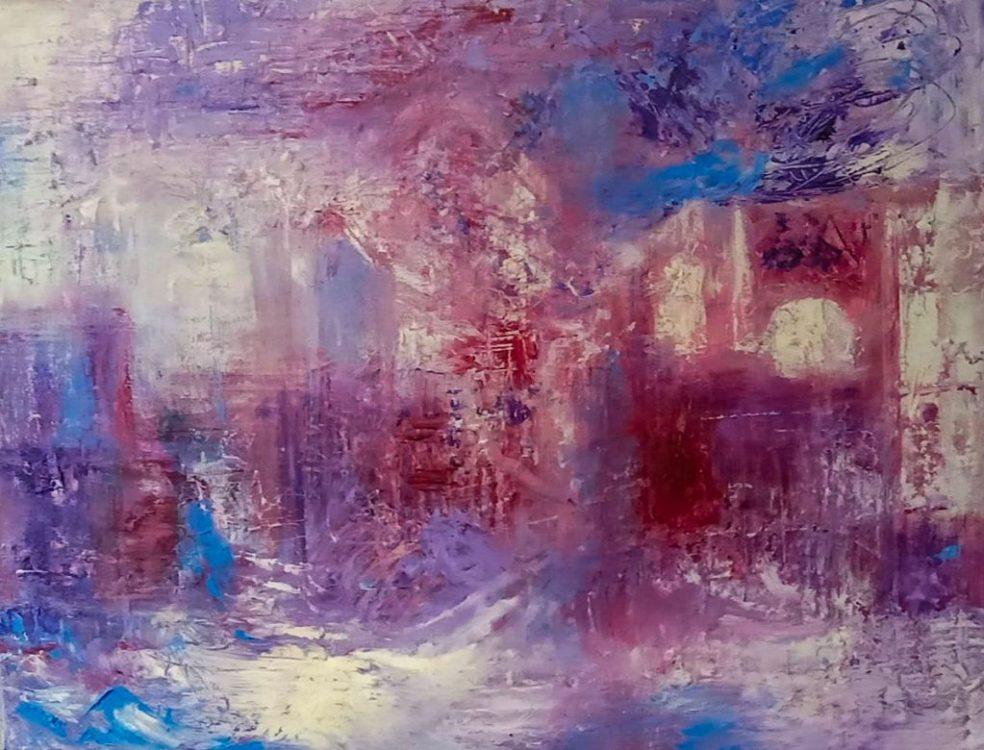 "32. ""London & The Thames"" - oil on canvas - 91cm x 60cm"
