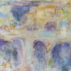 """21. """"Bridges"""" - mixed media on canvas 51x51cm"""