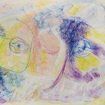 "28. ""Portrait 2"" - oil pastels on paper under glass, 71x56cm, framed"