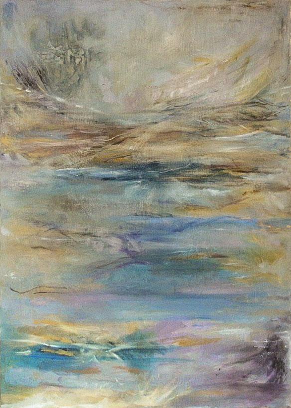 """7. """"Sky and Sea"""" - acrylic on canvas 60x84cm, unframed"""