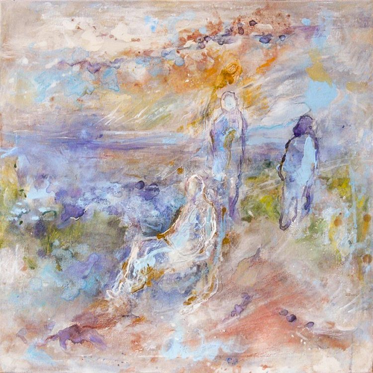 """11. """"Lost by the Sea"""" - acrylic on canvas 70cm x 70cm"""