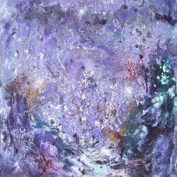 """14. """"Night Sky"""" - acrylic on canvas, 51x61cm, unframed"""