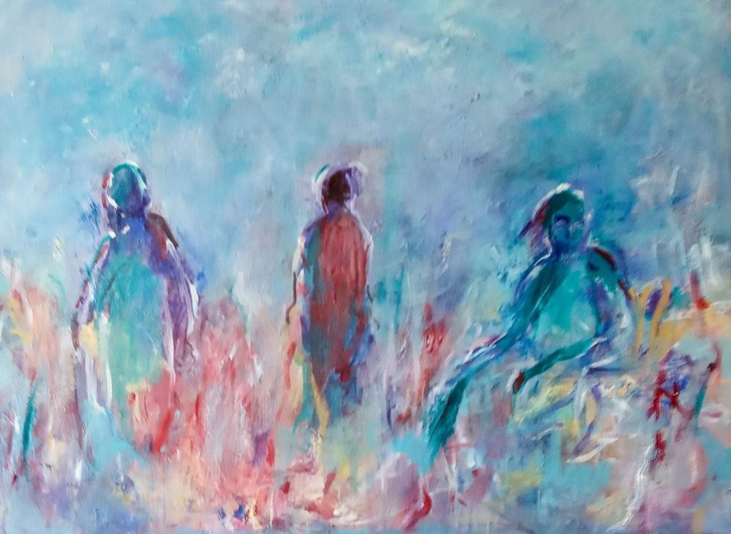 """36. """"The Unknown"""" - acrylic and oils on canvas, 80x60cm"""