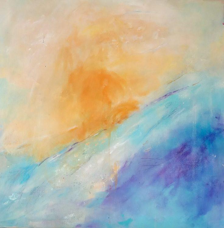 """43. """"Easter"""" Acrylic on canvas 60x60cm"""